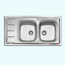 سینک ظرفشویی استیل توکار اخوان کد 164