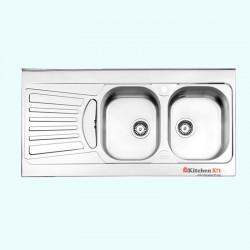 سینک ظرفشویی روکار استیل البرز کد 60-725