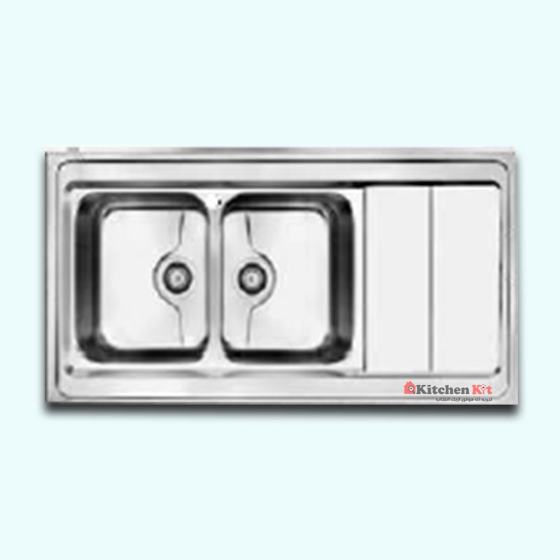 سینک ظرفشویی استیل روکار کن کد 9062-P