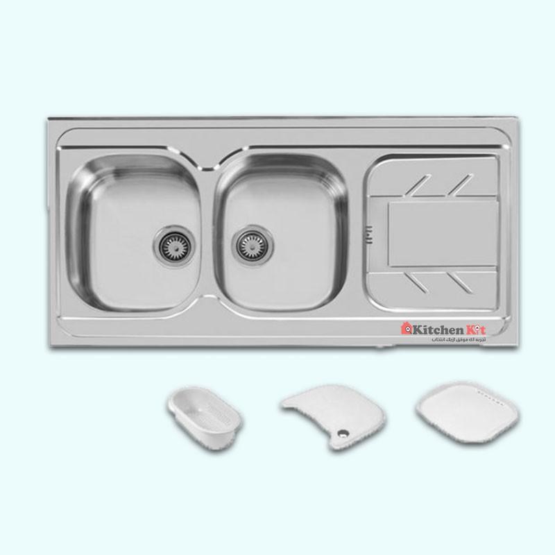 سینک ظرفشویی استیل روکار اخوان کد 149