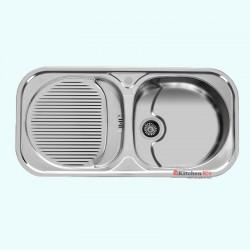 سینک ظرفشویی استیل توکار اخوان کد 113