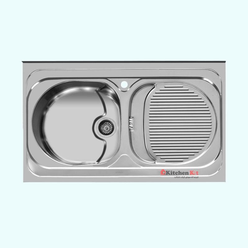 سینک ظرفشویی استیل روکار اخوان کد 115